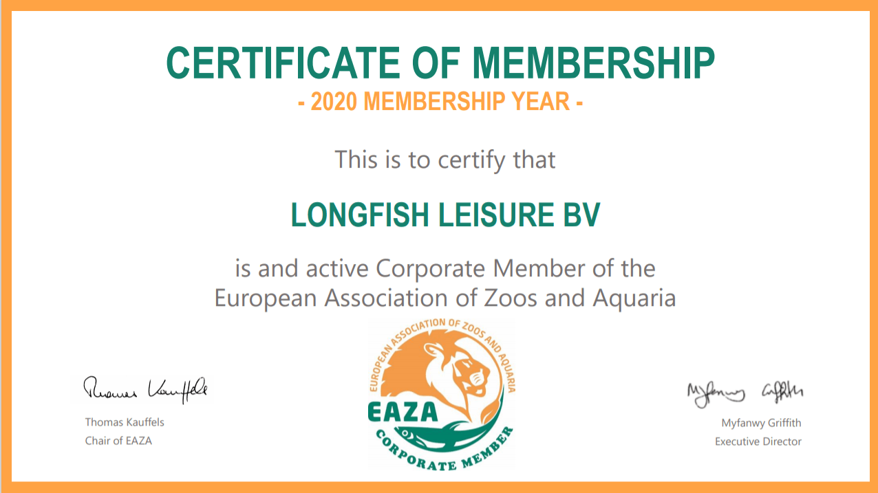 Longfish Leisure becomes member of EAZA